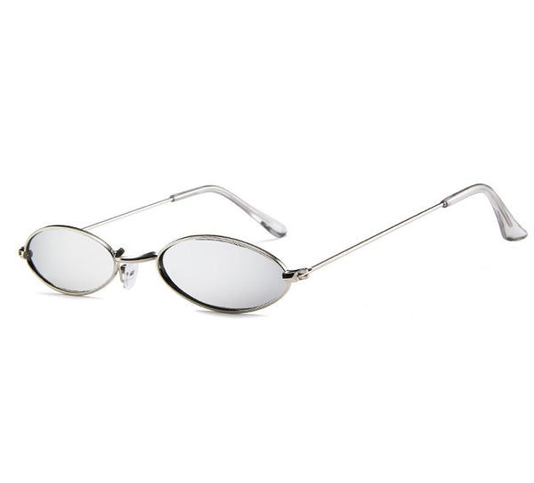 Sierra Skinny Oval Metal Sunglasses - 4 colors