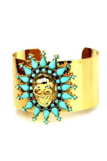 Glorious Skull Cuff - Mint