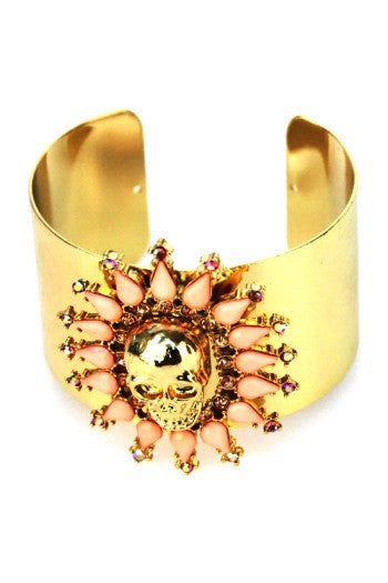 Glorious Skull Cuff - Pink