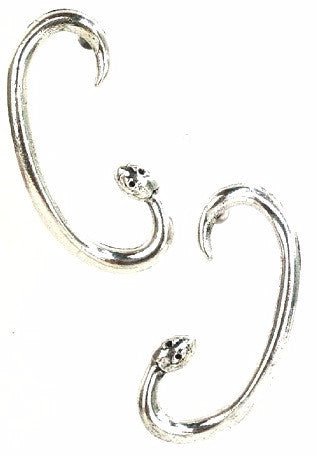 Silver Serpent Earrings