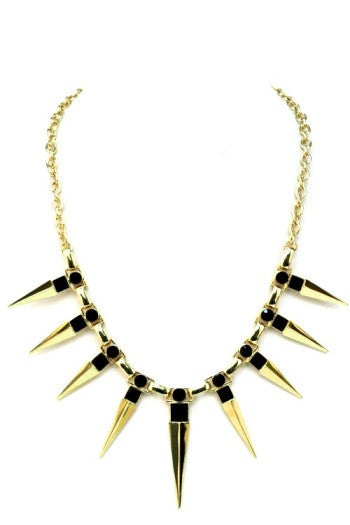 Dramatic Spikes Necklace