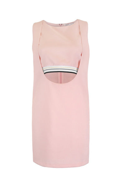 Sporty Pink CutOut Casual Dress