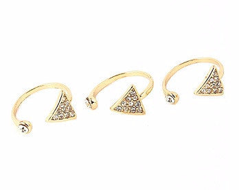 Three Triangular Ring Set