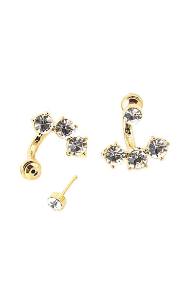 Triple Spike Stud Earrings