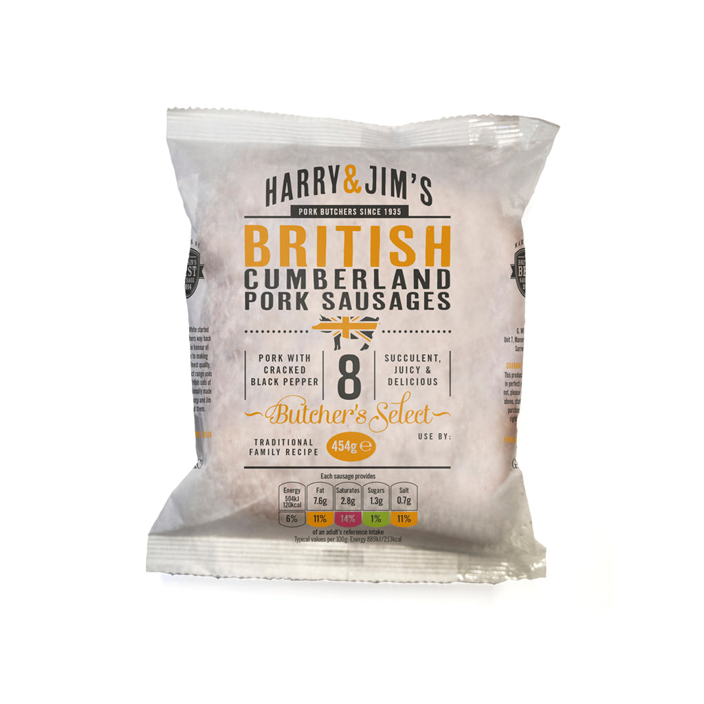 Harry & Jim's Cumberland Pork Sausages (multipack of 5)