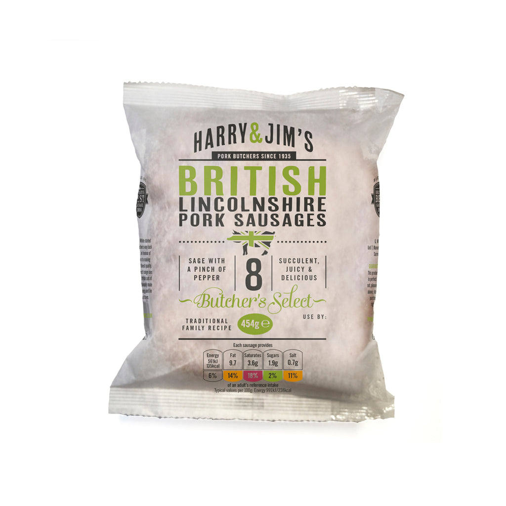 Harry & Jim's Lincolnshire Pork Sausages (multipack of 5)