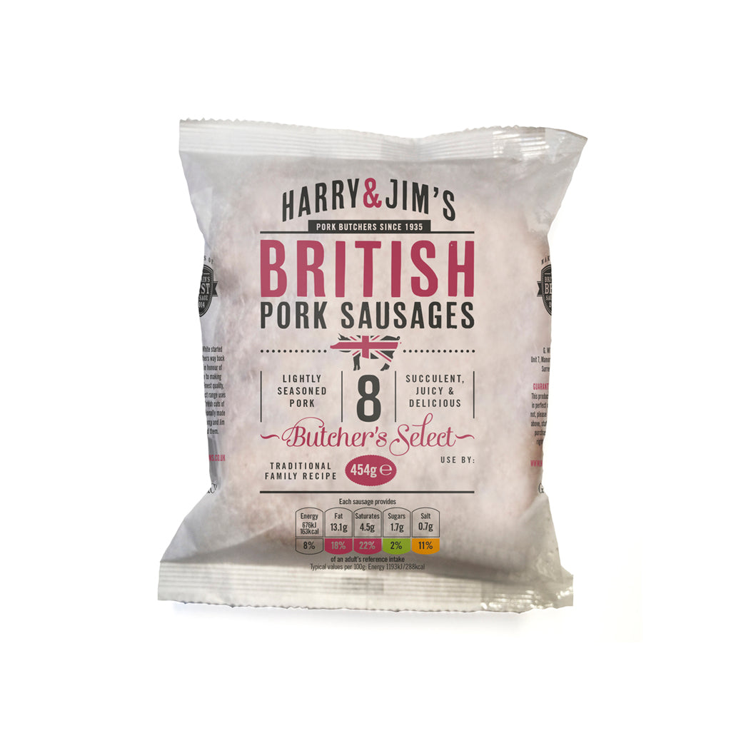 Harry & Jim's Pork Sausages (multipack of 5)