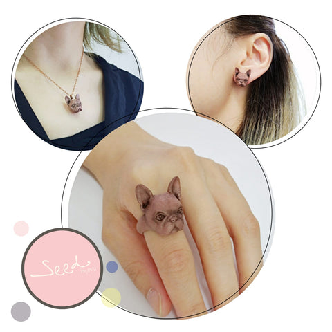 Copperfill Combo (small charm necklace, earrings, ring)