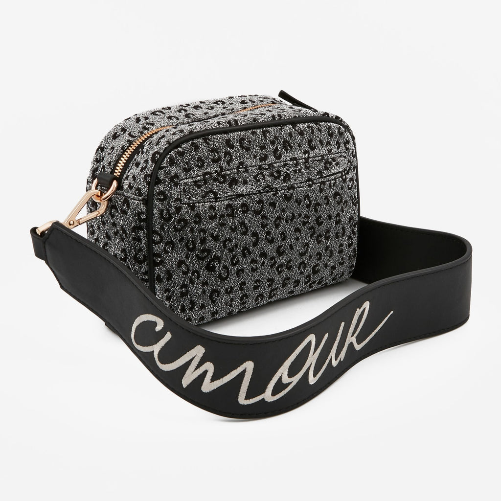 MAROQUINERIE - Crossbody Leopard Metallique Wild Love