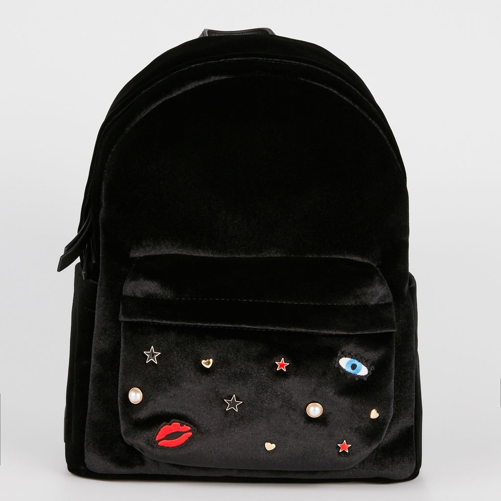 MAROQUINERIE - Sac A Dos Cosmic Love Velours Noir