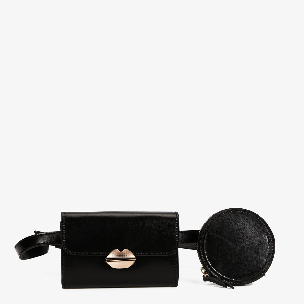 MAROQUINERIE - Sac Ceinture Sealed With A Kiss Noir