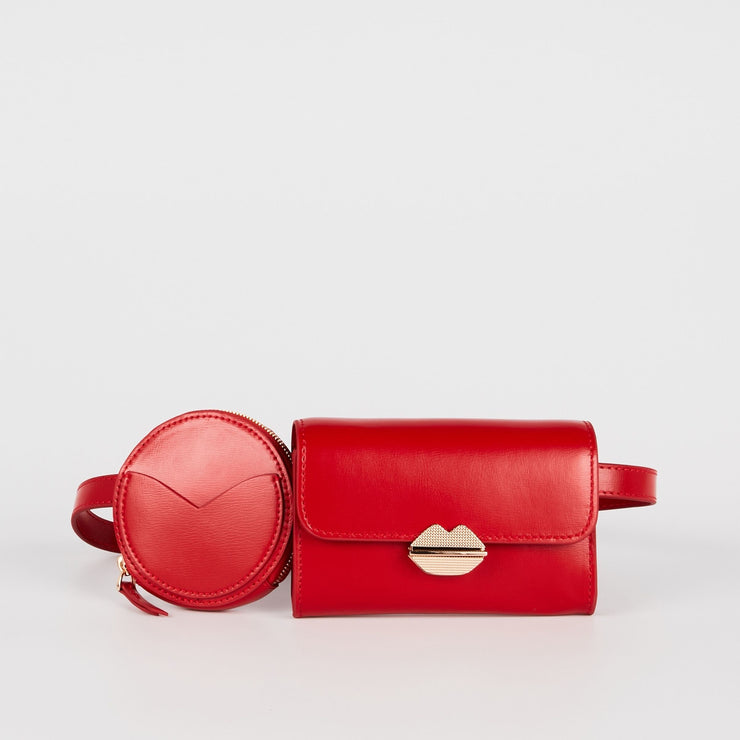 MAROQUINERIE - Sac Ceinture Sealed With A Kiss Rouge