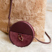 MAROQUINERIE - Sac Rond French Kiss Bordeaux
