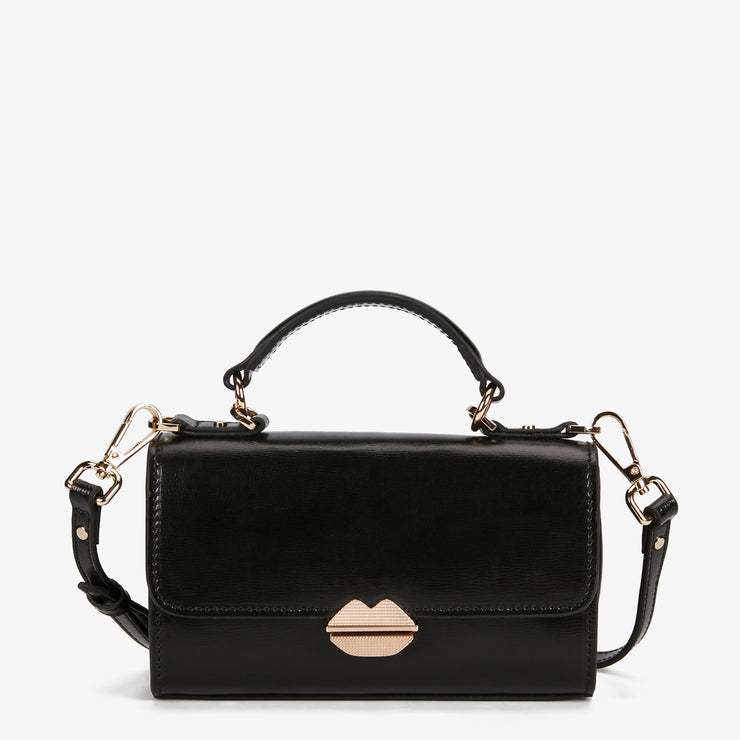 MAROQUINERIE - Small Satchel Sealed With A Kiss Noir
