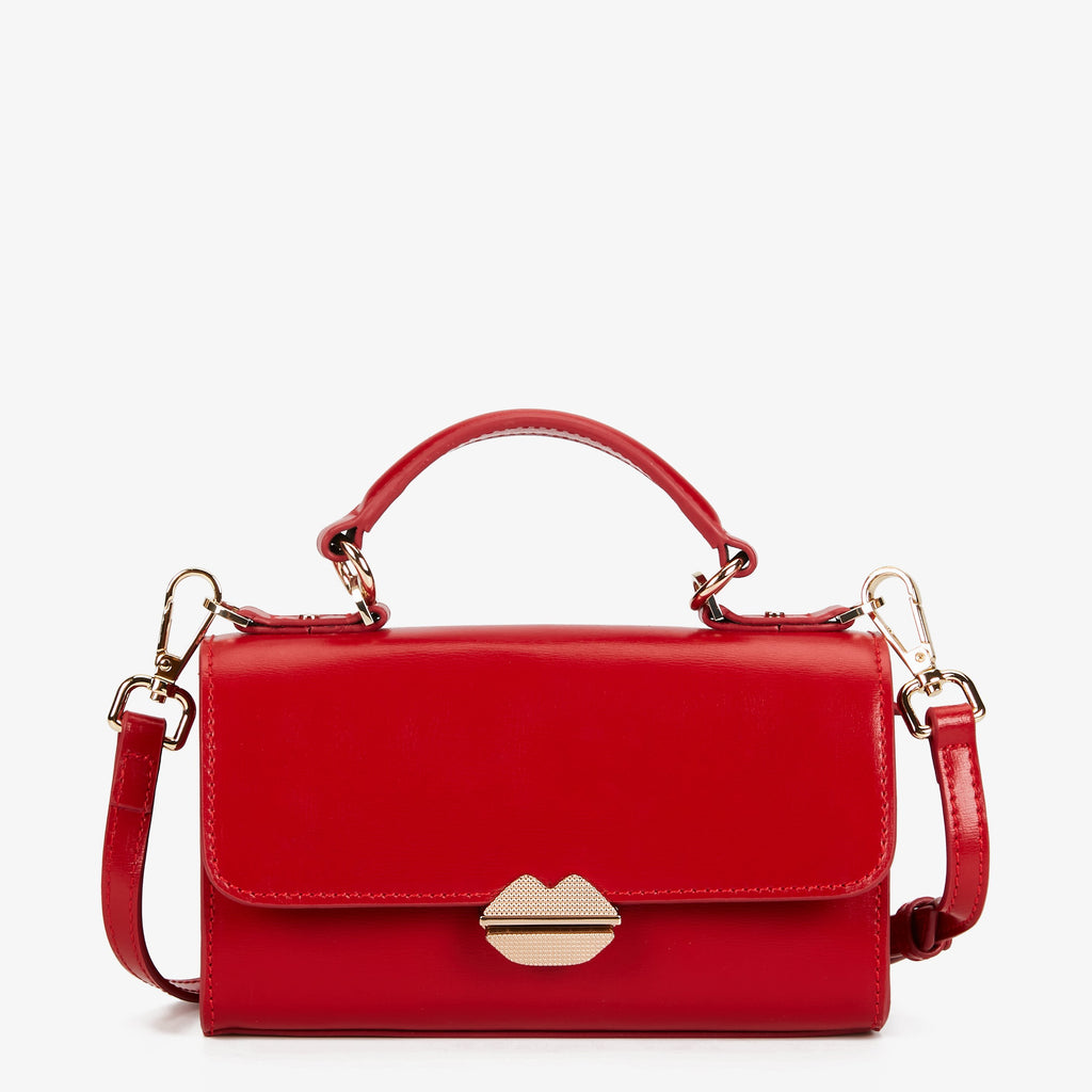 MAROQUINERIE - Small Satchel Sealed With A Kiss Rouge
