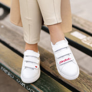 SNEAKERS EDITH - Edith Amour-Blanc/Rouge
