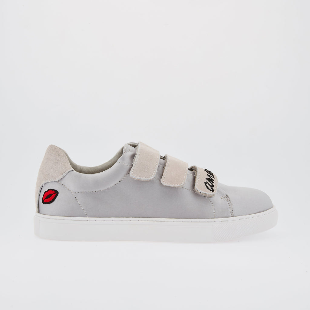 SNEAKERS EDITH - Sneakers Edith Amour Satin Gris