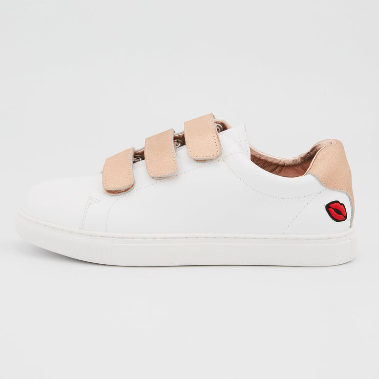 SNEAKERS EDITH - Sneakers Edith Blanc/Rose Gold