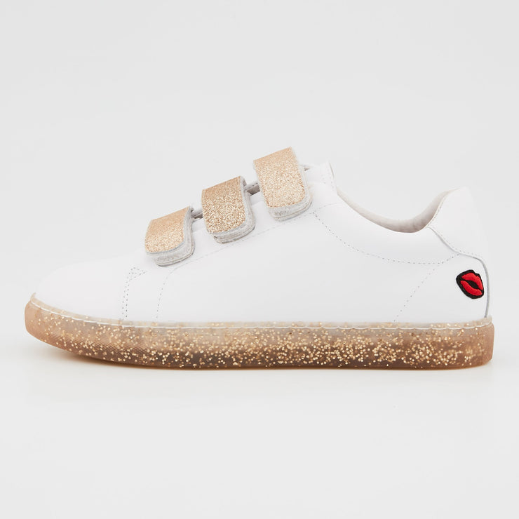 SNEAKERS EDITH - Sneakers Edith Glitter Sole Gold