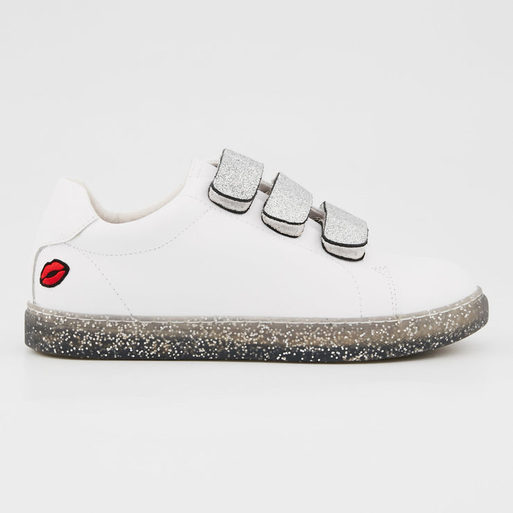 SNEAKERS EDITH - Sneakers Edith Glitter Sole Silver