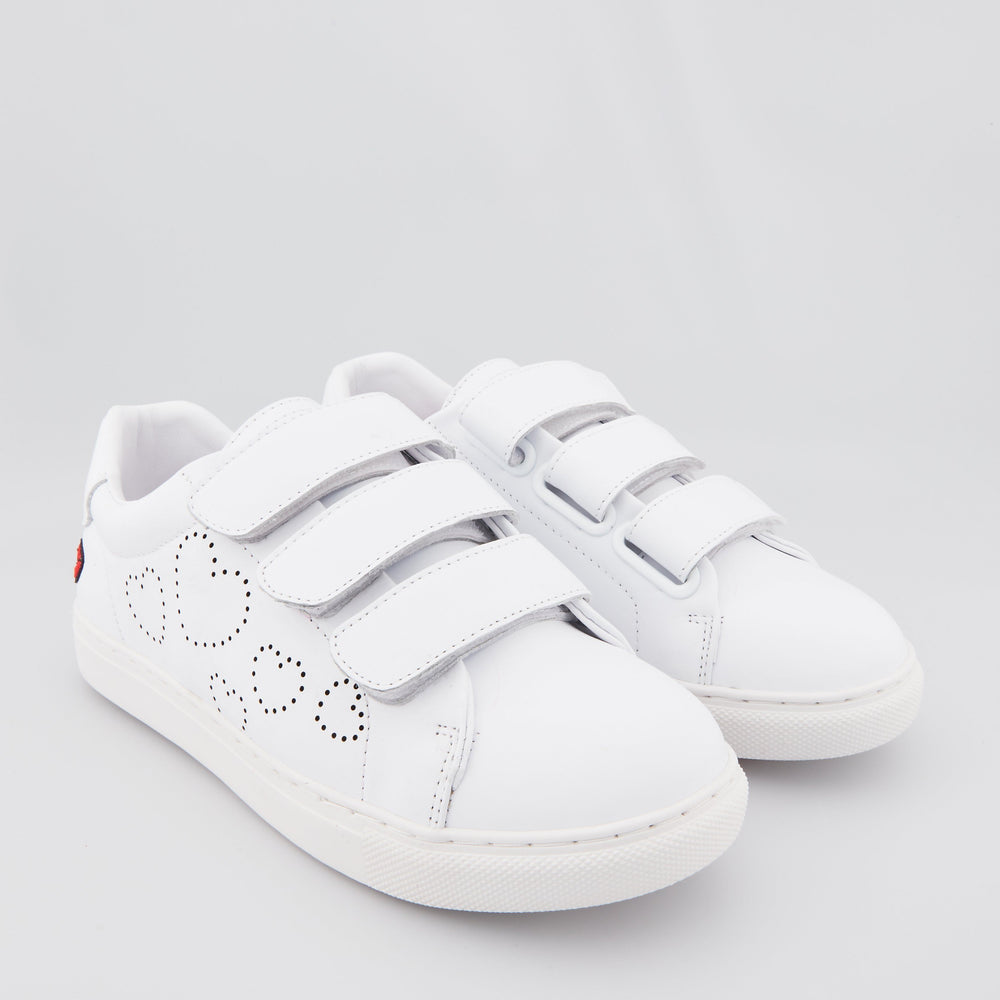 SNEAKERS EDITH - Sneakers Edith Tiny Heart Blanc