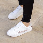 SNEAKERS SIMONE - Simone Amour-Blanc/Rose Gold