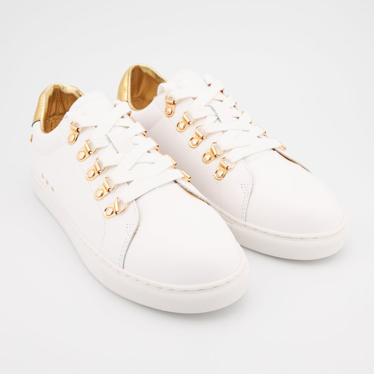 SNEAKERS SIMONE - Simone Industry-Blanc/Gold