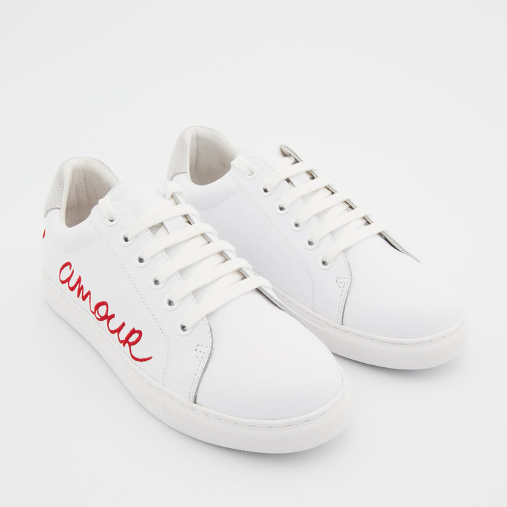 SNEAKERS SIMONE - Sneakers Simone Amour Blanc/Rouge