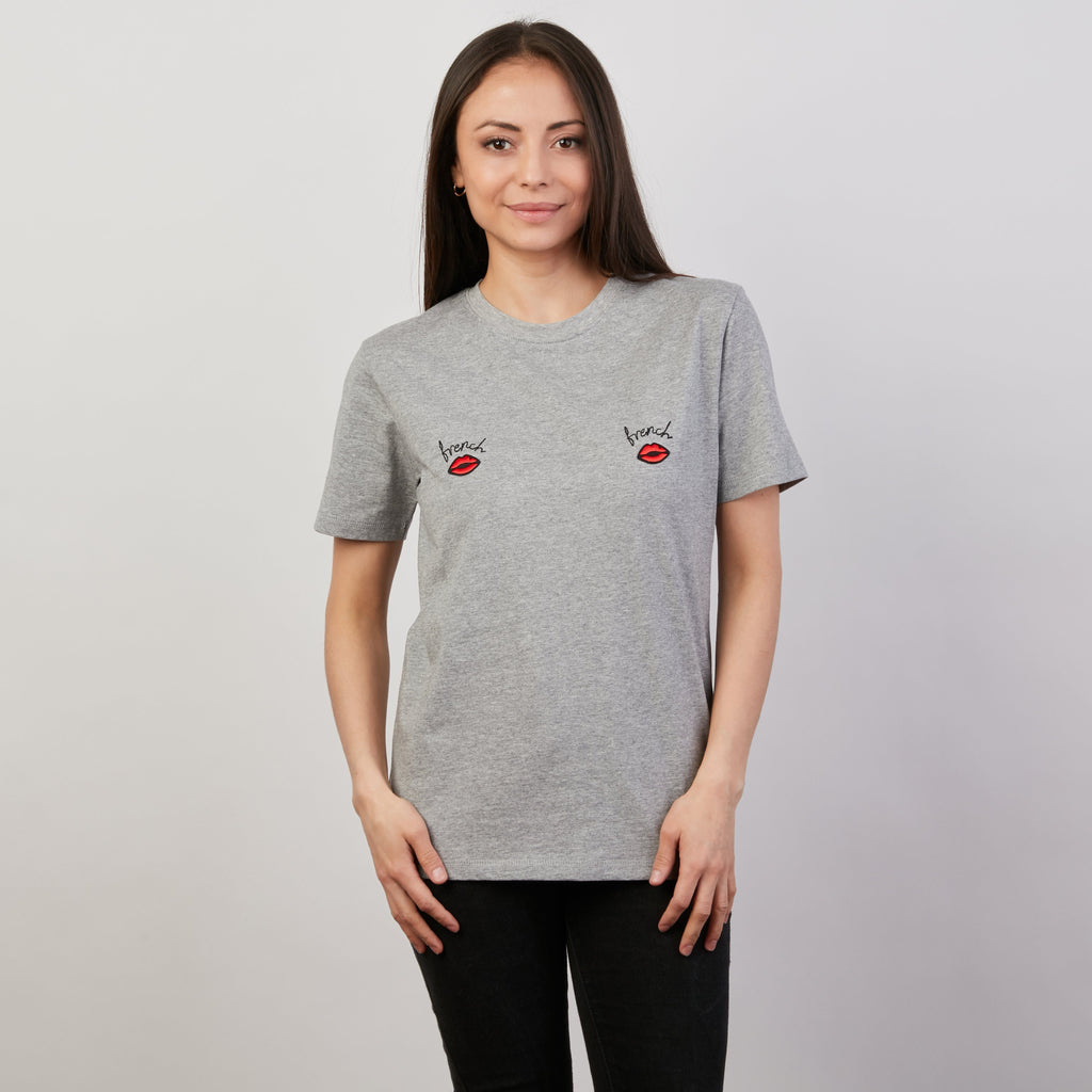 T-SHIRT - T Shirt French Kiss Gris Chiné