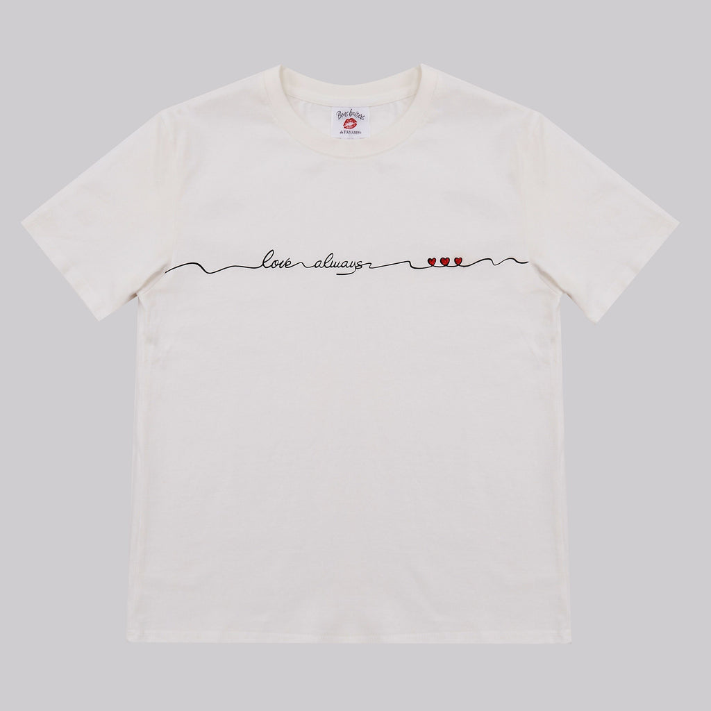 T-SHIRT - T Shirt Love Always Blanc