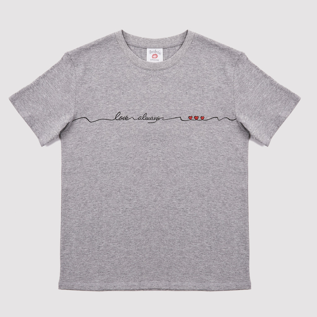 T-SHIRT - T Shirt Love Always Gris Chiné