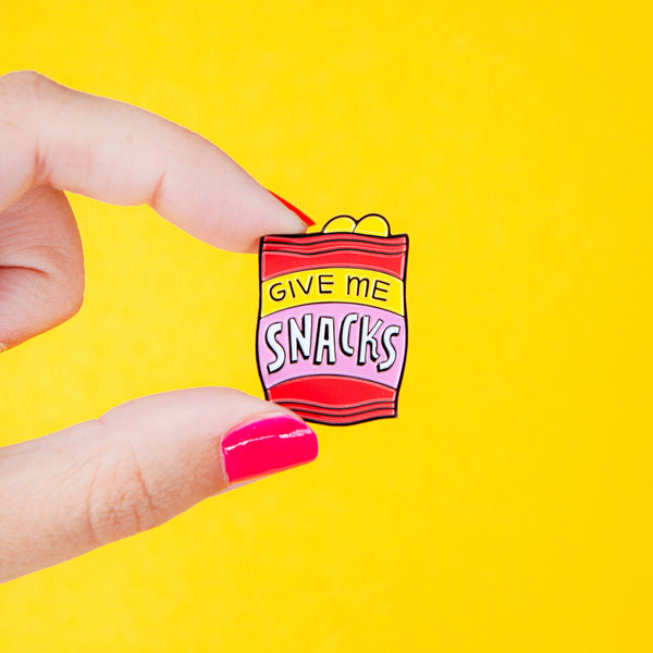 Give Me Snacks Enamel Pin