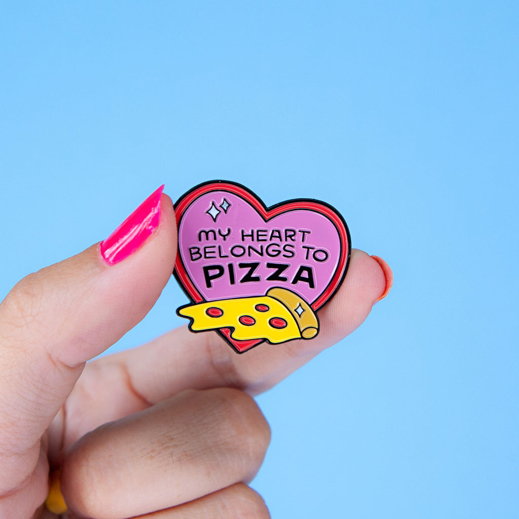 My Heart Belongs to Pizza Enamel Pin