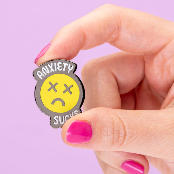 Anxiety Sucks Enamel Pin