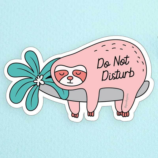 Do Not Disturb Sloth Large Vinyl Sticker