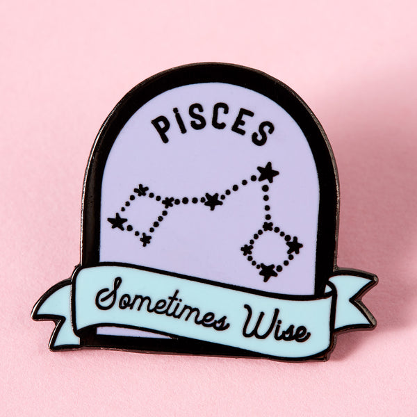 Pisces Purple and Blue Starsign Enamel Pin