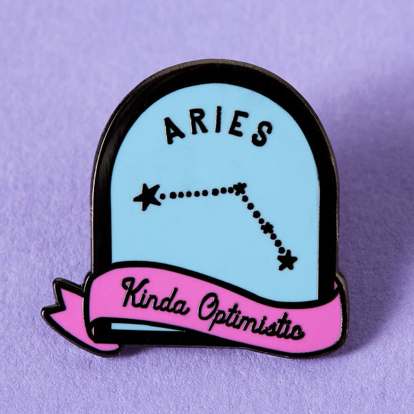 Aries Purple and Blue Starsign Enamel Pin