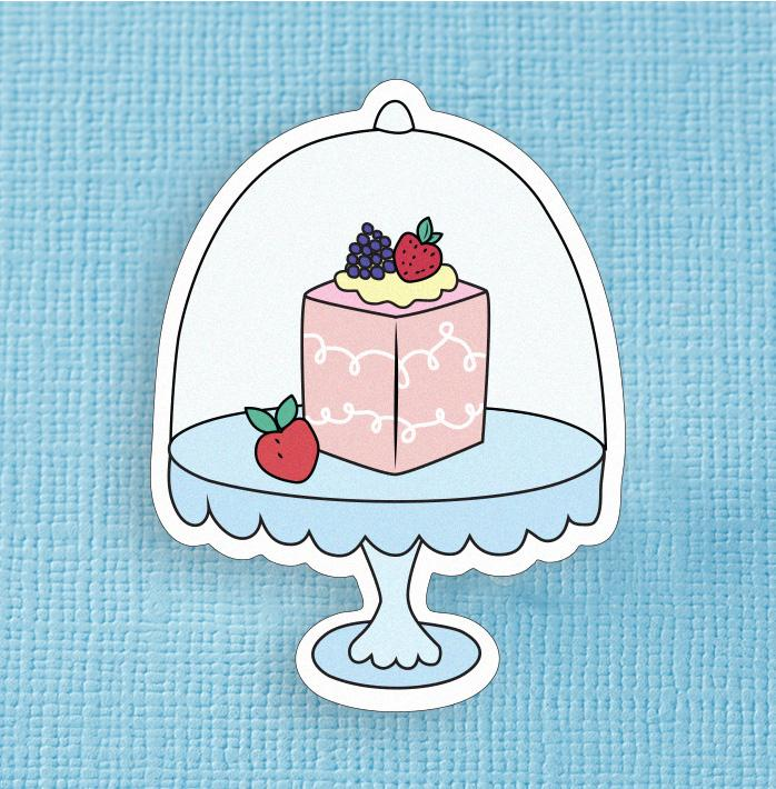 Fancy Cakes Large Vinyl Sticker