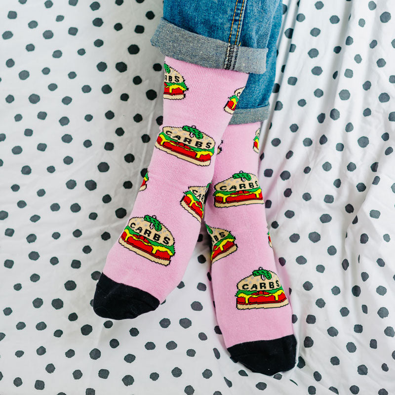 Carbs Burger Socks