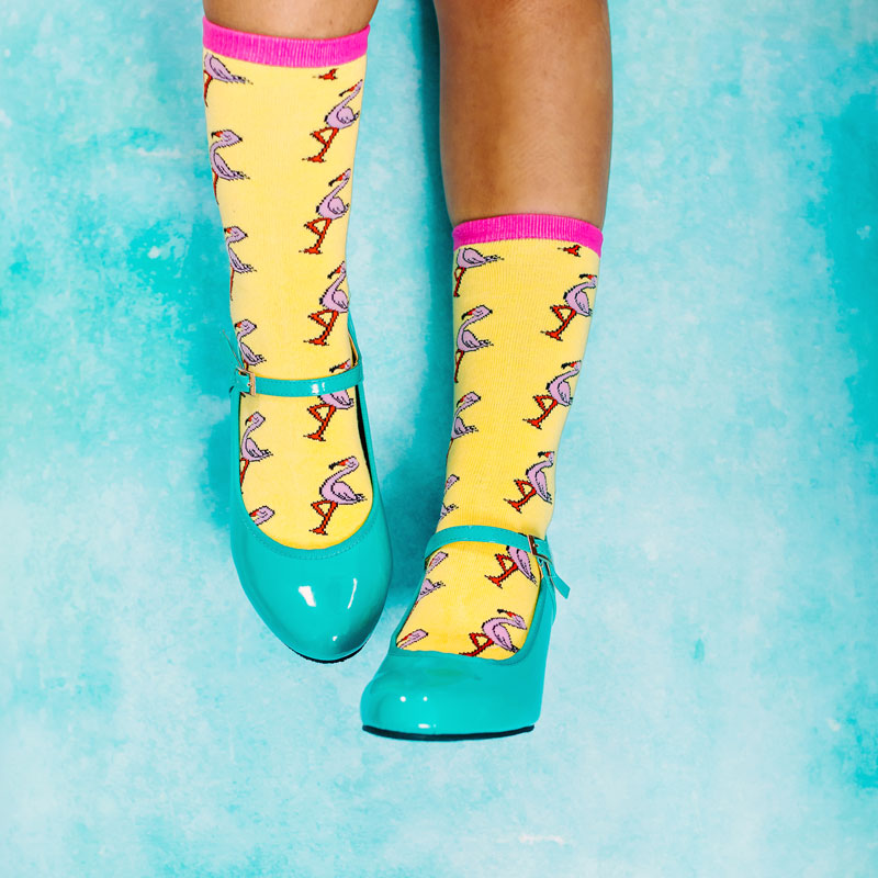 Sassy Flamingo Socks