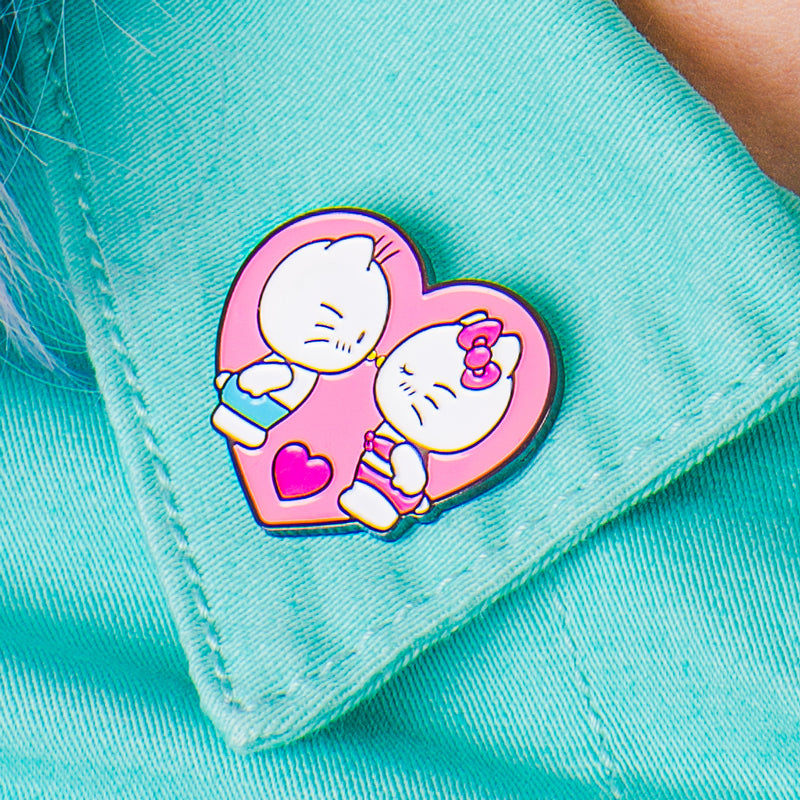 Hello Kitty Kissing Dear Daniel Enamel Pin