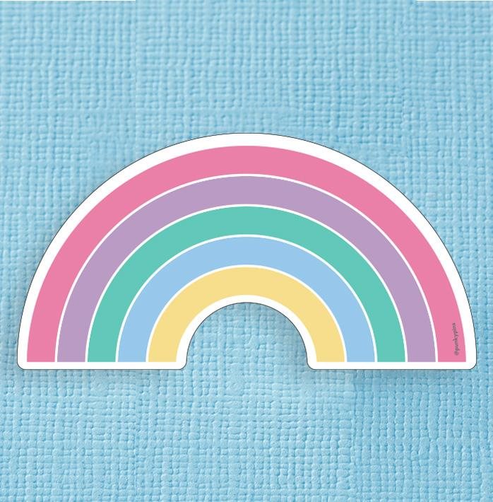 Pastel Rainbow Large Vinyl Sticker