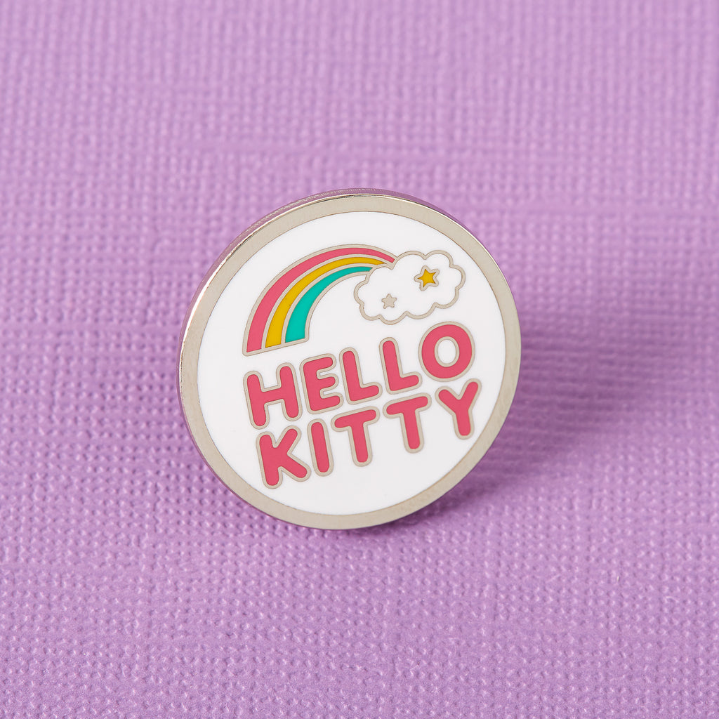 Hello Kitty Rainbow Cloud Enamel Pin