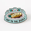 Soy to the World Christmas Enamel Pin