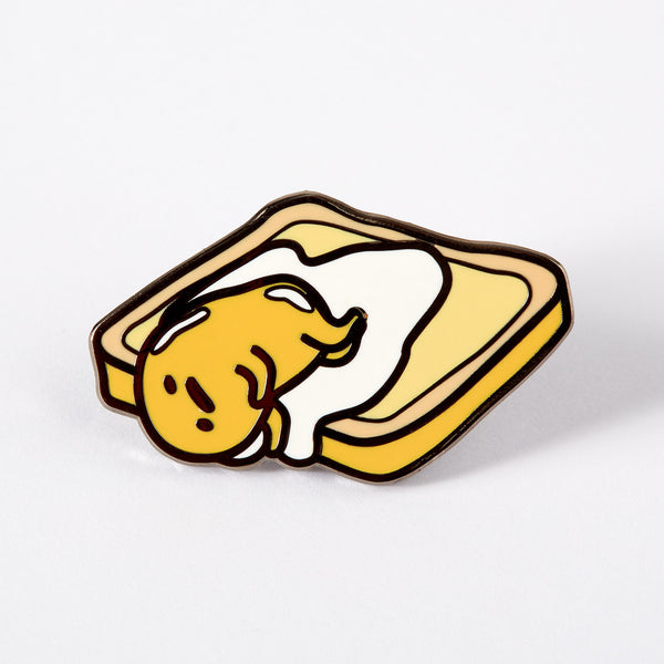 Gudetama On Toast Enamel Pin