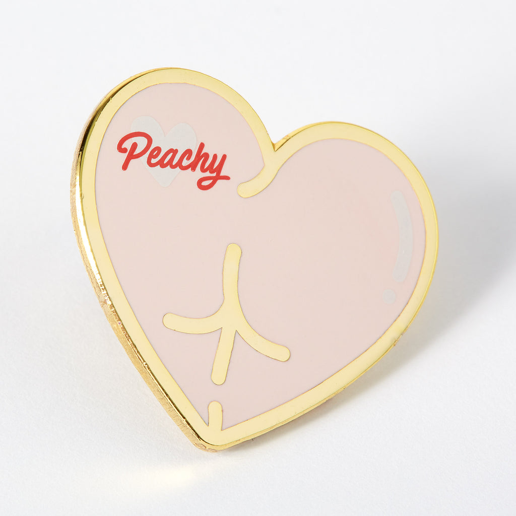 Peachy Bum Enamel Pin
