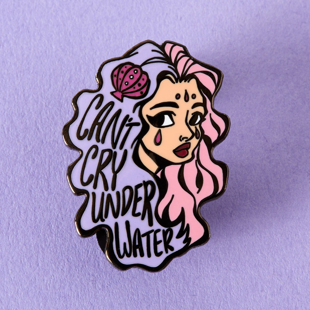Cant Cry Underwater Enamel Pin