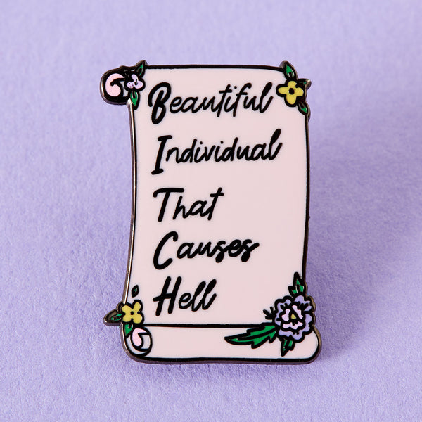 Beautiful Individual Enamel Pin