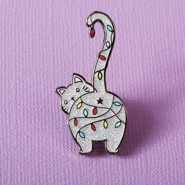 Christmas Kitty Enamel Pin