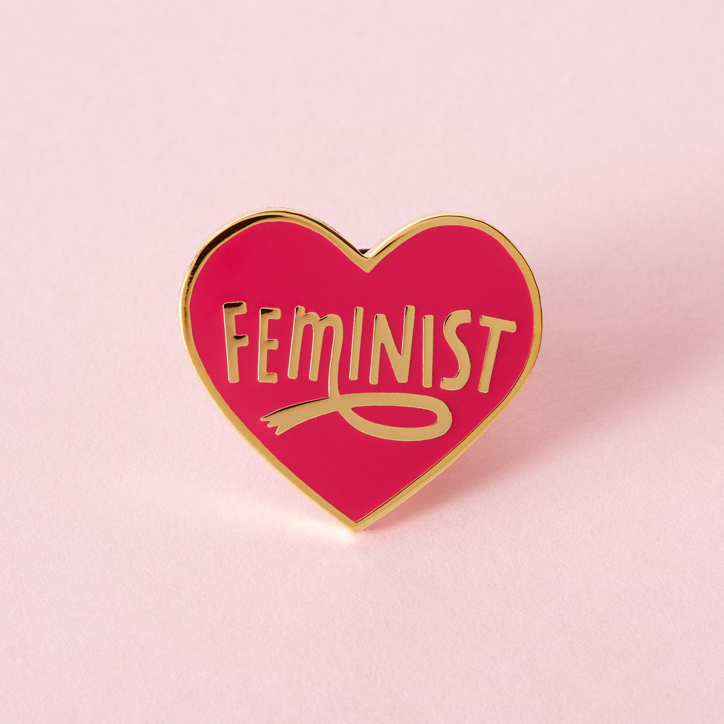 Feminist Heart Shaped Enamel Pin